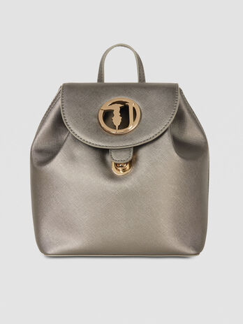 Small Sophie backpack in saffiano print faux leather