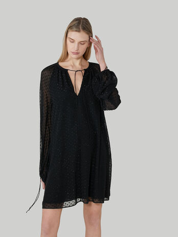 Vestido tunica de tejido fil coupe
