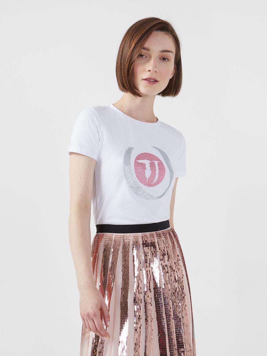 Slim fit stretch jersey T-shirt