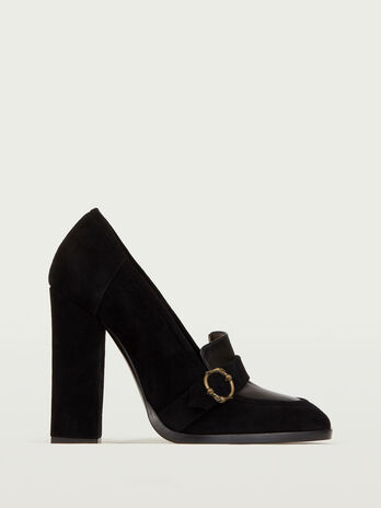 Mary Jane in suede e pelle
