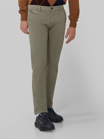 Cotton sateen Aviator trousers