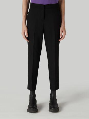 Pantalon cropped de viscosa tecnica