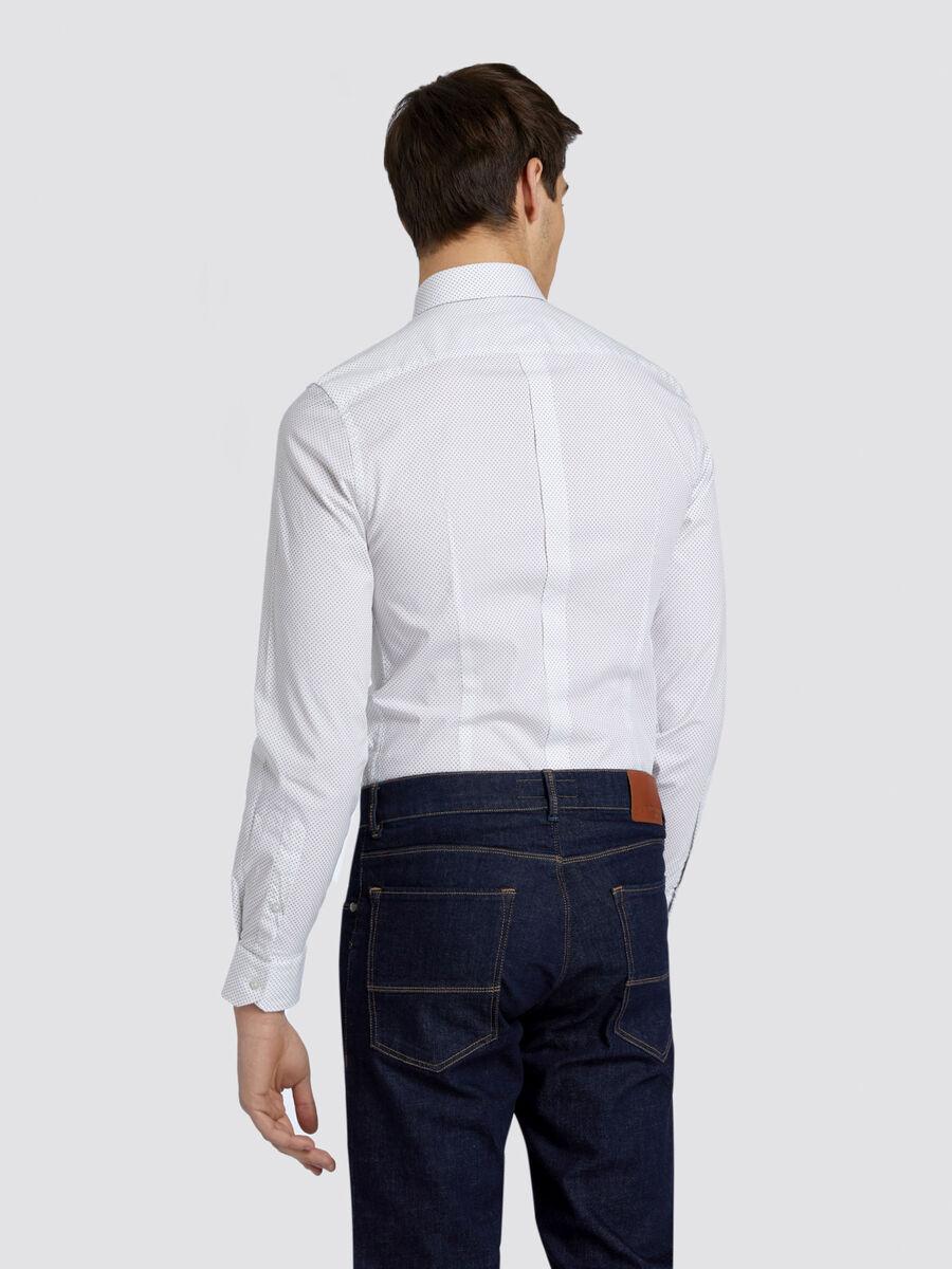 Camicia slim fit con stampa geometrica a puntini