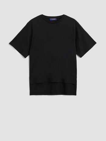 Cotton jersey interlock T-shirt