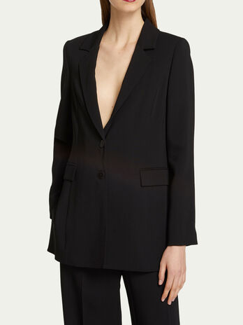 Two button viscose cady blazer
