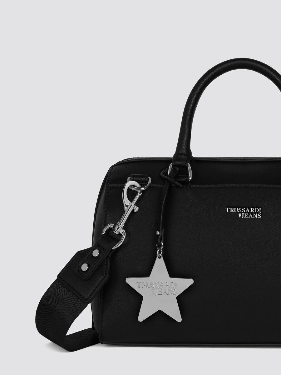 Bauletto T-Easy Star medium in similpelle con logo