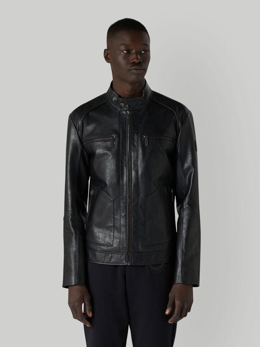 Biker jacket with zip
