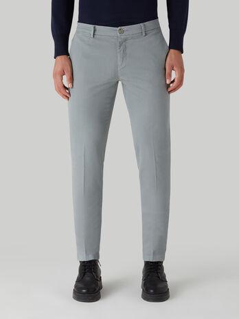 Aviator-fit cotton gabardine trousers