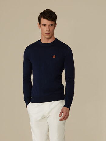Regular-fit cotton crew-neck top
