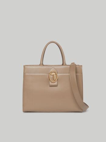 Tote Bag Grace Medium aus glattem Kunstleder