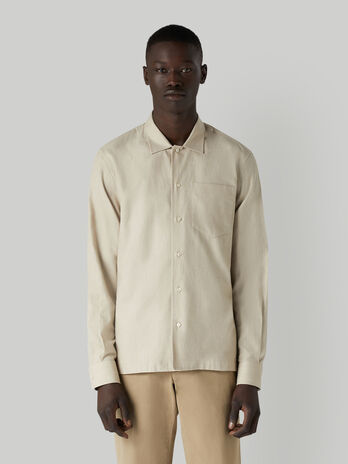 Camisa de corte boxy de algodon con bolsillito
