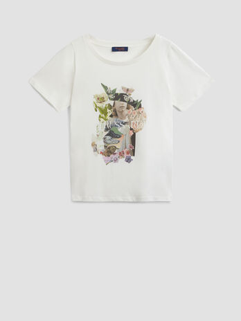 Pure cotton T-shirt with graphic print