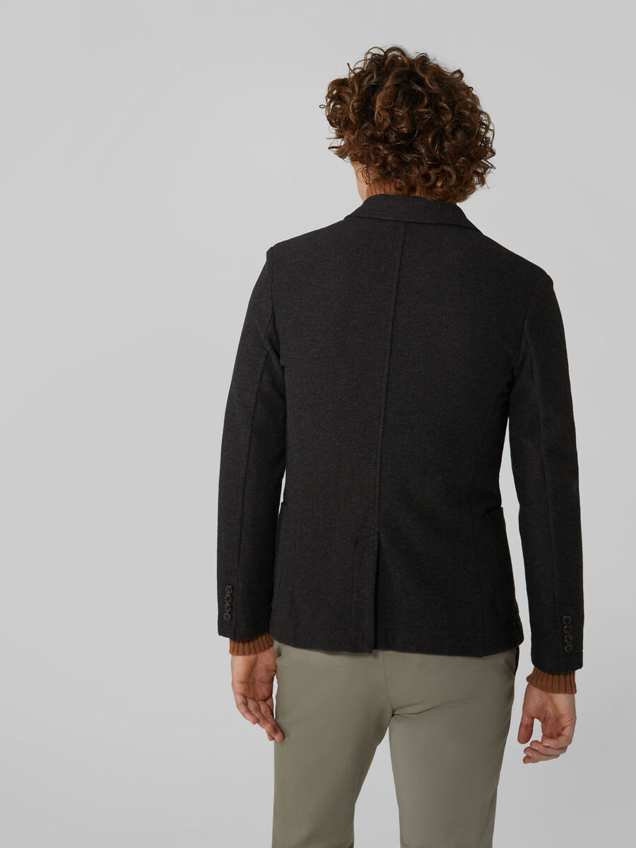 Slim fit micro jersey blazer
