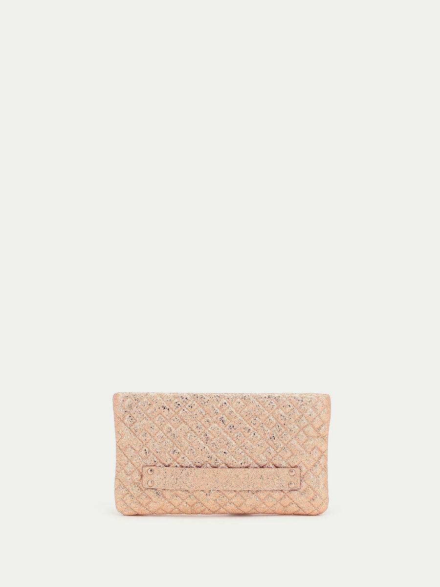 Envelope en cuir matelasse lame