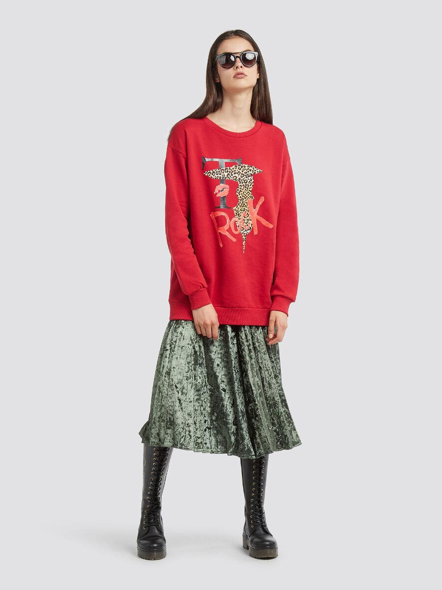 Sweatshirt aus Baumwolle mit Logo Print