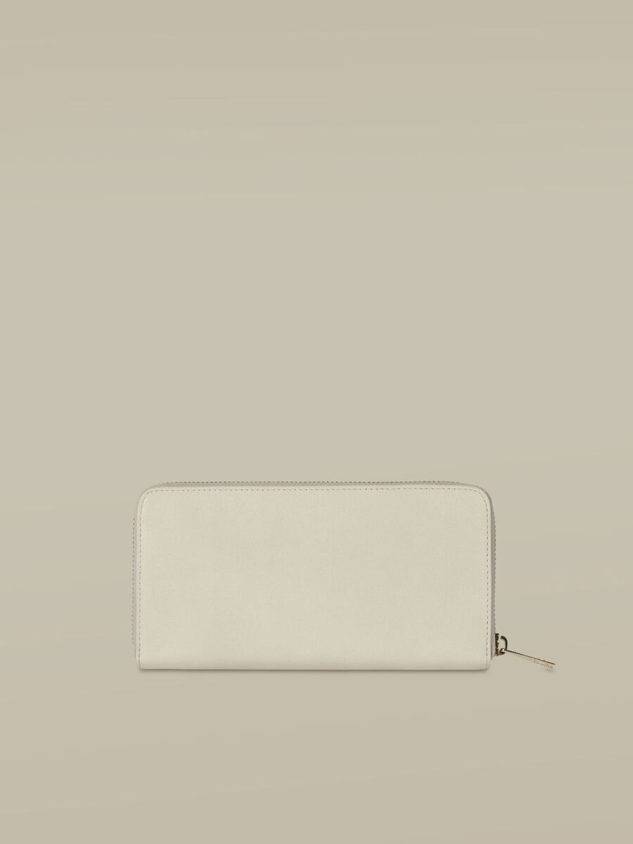Leather Lovy zip-around purse
