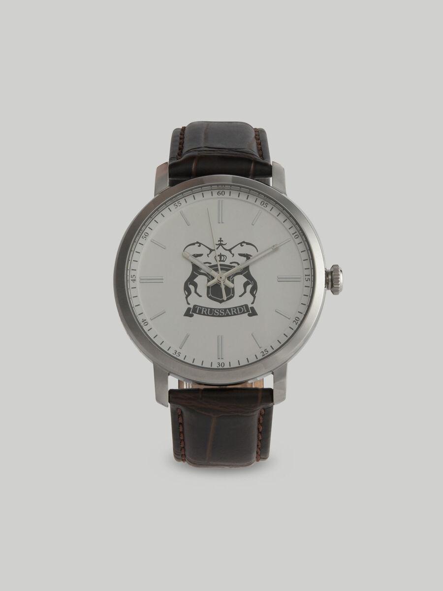 Armbanduhr T-Couple 41MM mit Lederarmband