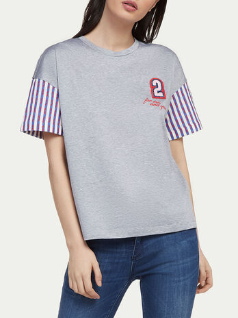 Jersey T shirt with racing Levriero print