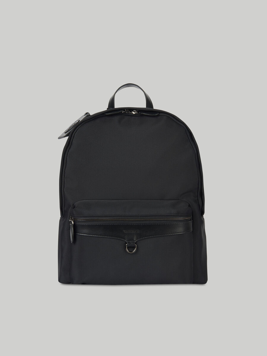 Medium Hero backpack in fabric and leather