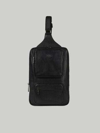 Medium Business one-shoulder backpack in leather