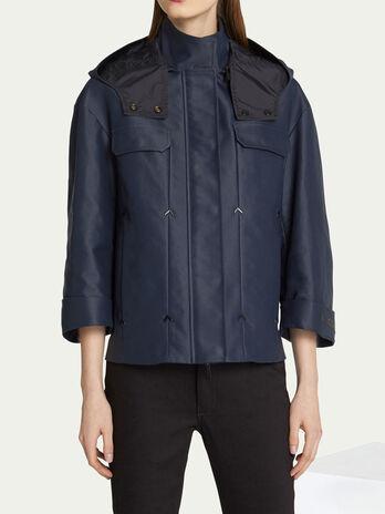 Jacke im Regular Fit aus Baumwoll Nylon Gemisch