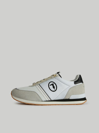 Sneaker Freddy aus Veloursleder und Nylon