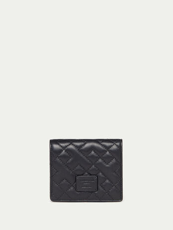 Quilted nappa card holder
