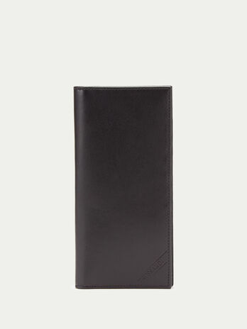 Grainy Crespo leather vertical wallet