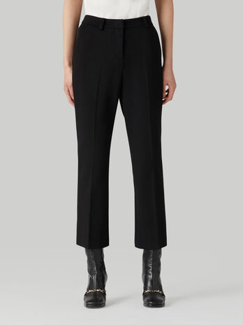 Pantalon cropped de punto compacto