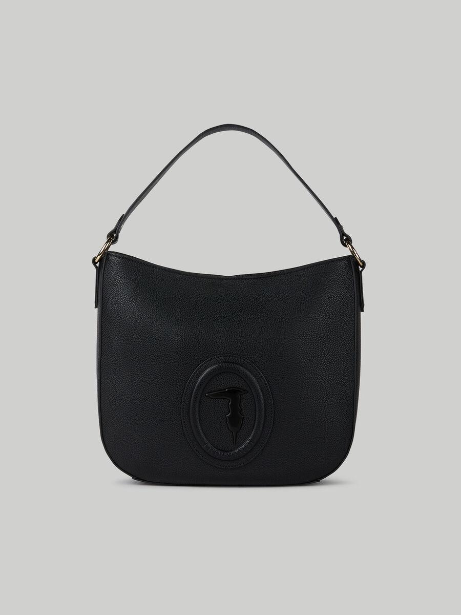 Medium Lisbona hobo bag with deerskin print