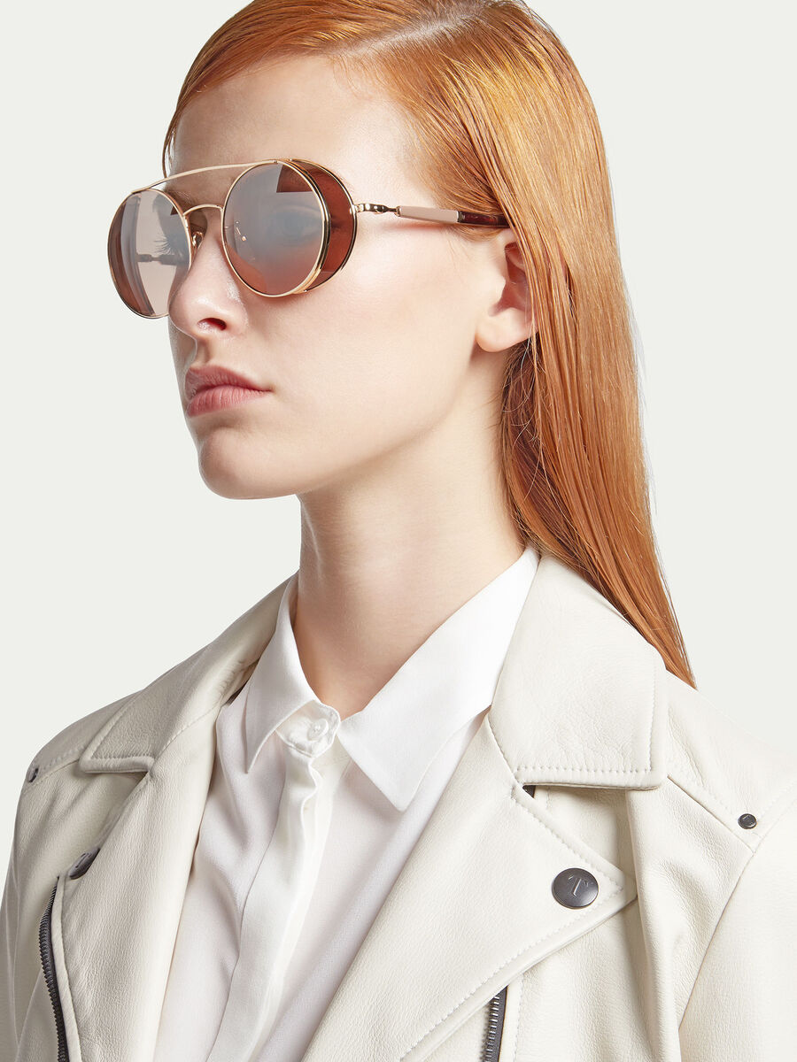 Sunglasses with semi transparent spoiler