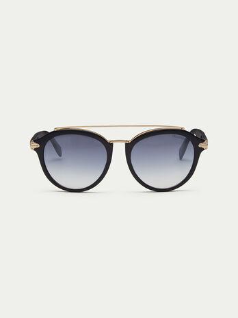 Gafas de sol opacas con puente de varillas