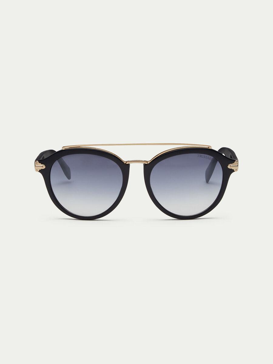 Sonnenbrille in Matt mit Buegelsteg
