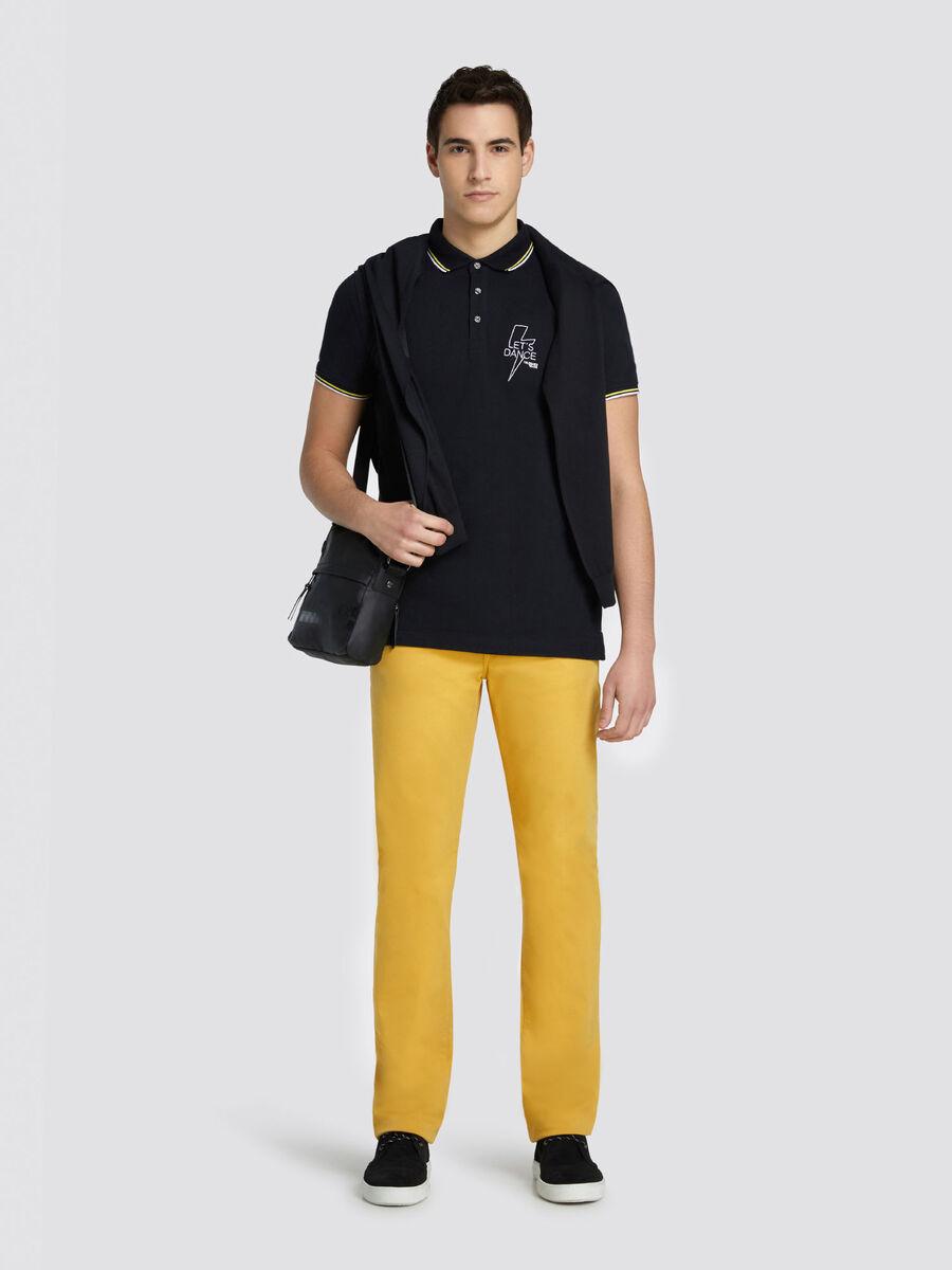 Regular fit pure cotton V neck pullover