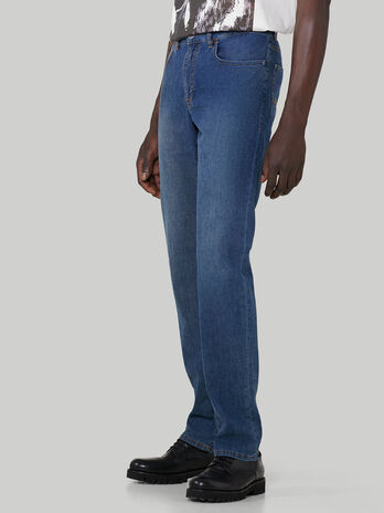 These Icon 380 jeans come in cotton canvas denim