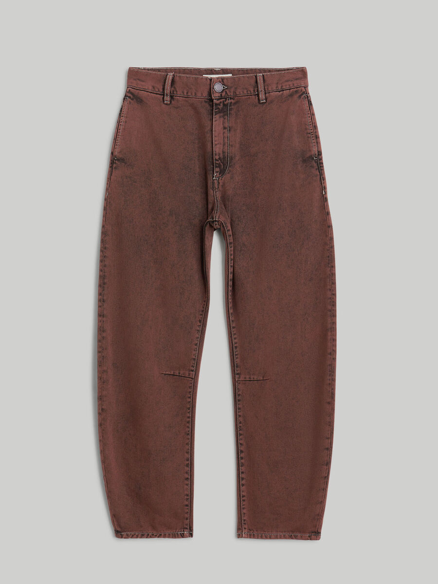 Marbled overdyed denim Curved jeans