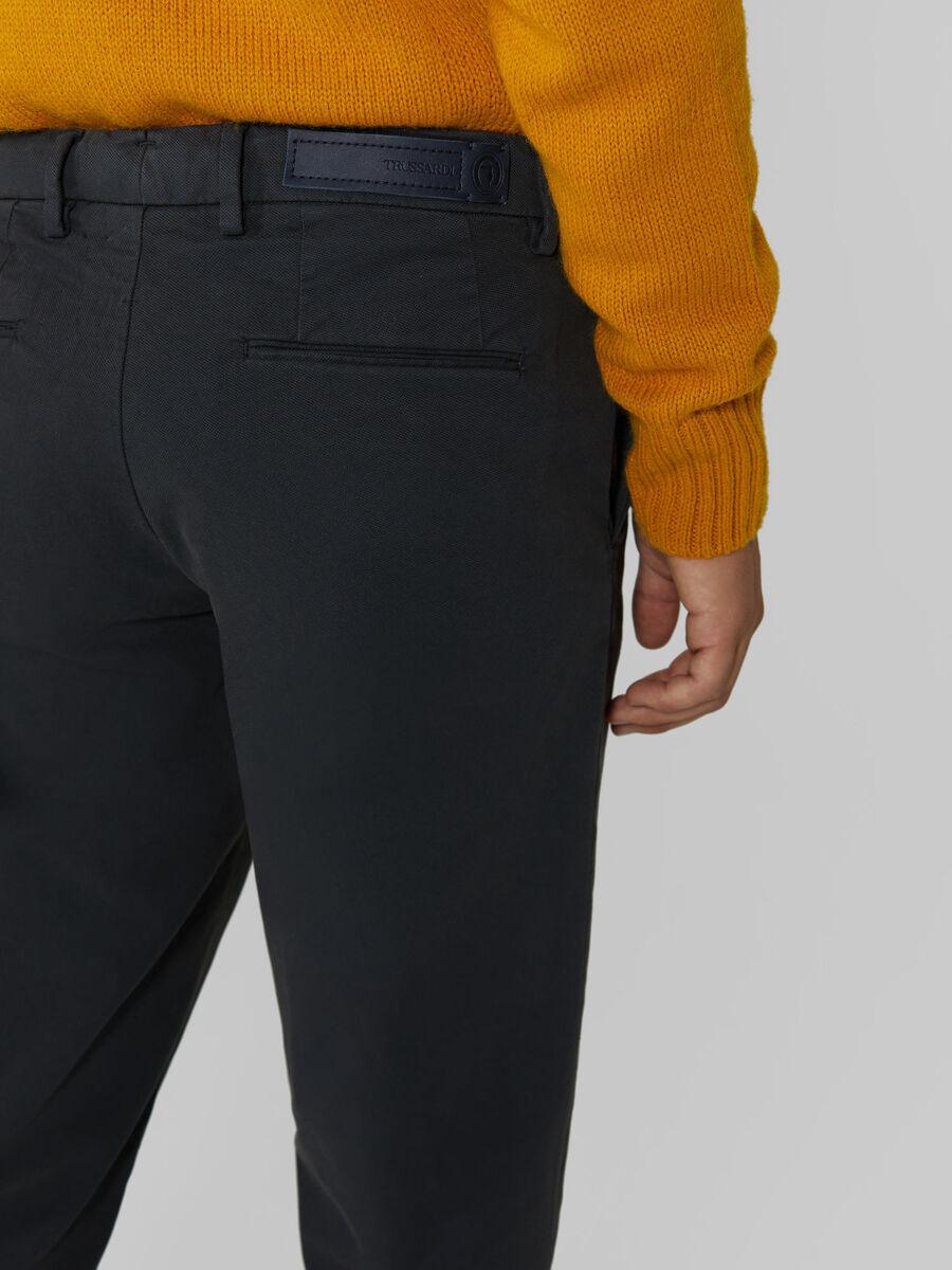 Pantalone Aviator in piquet di cotone