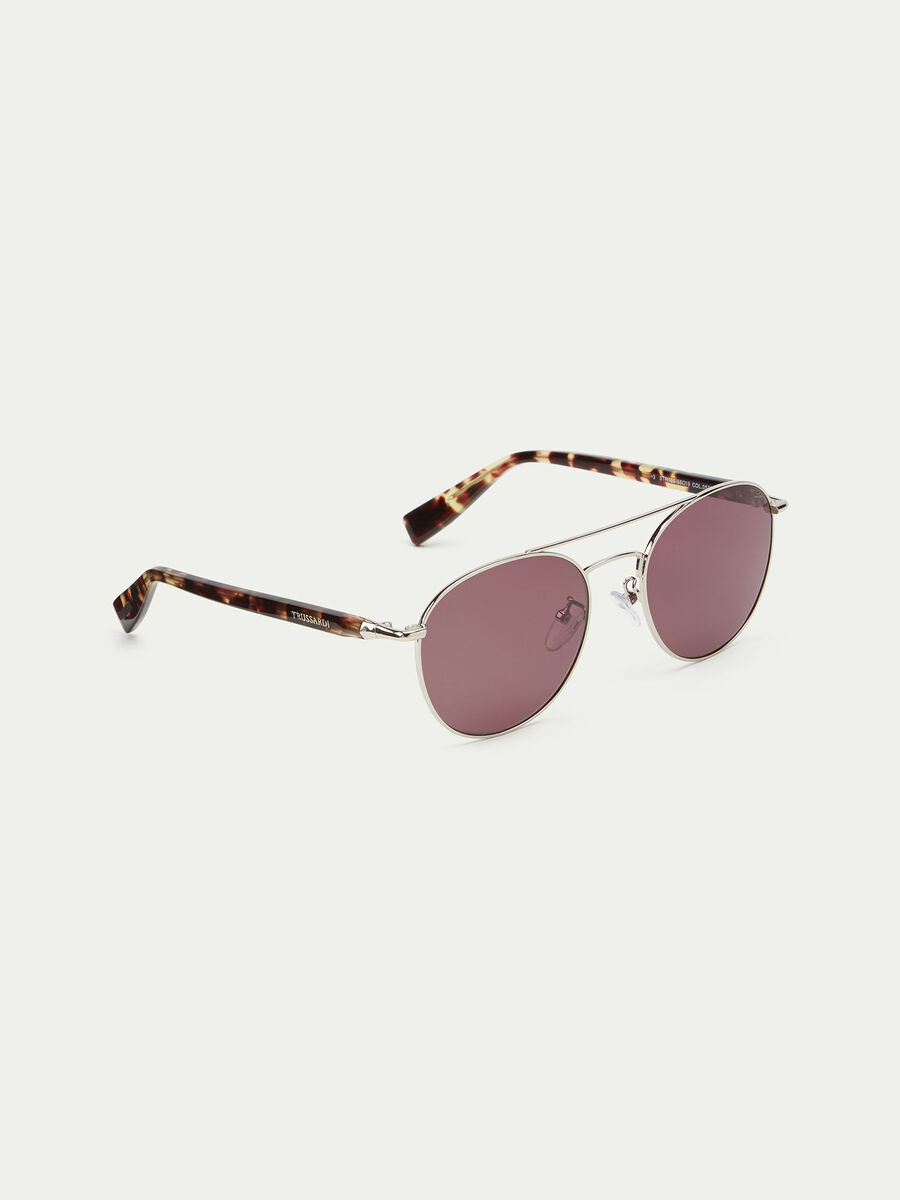 Rounded tortoiseshell sunglasses