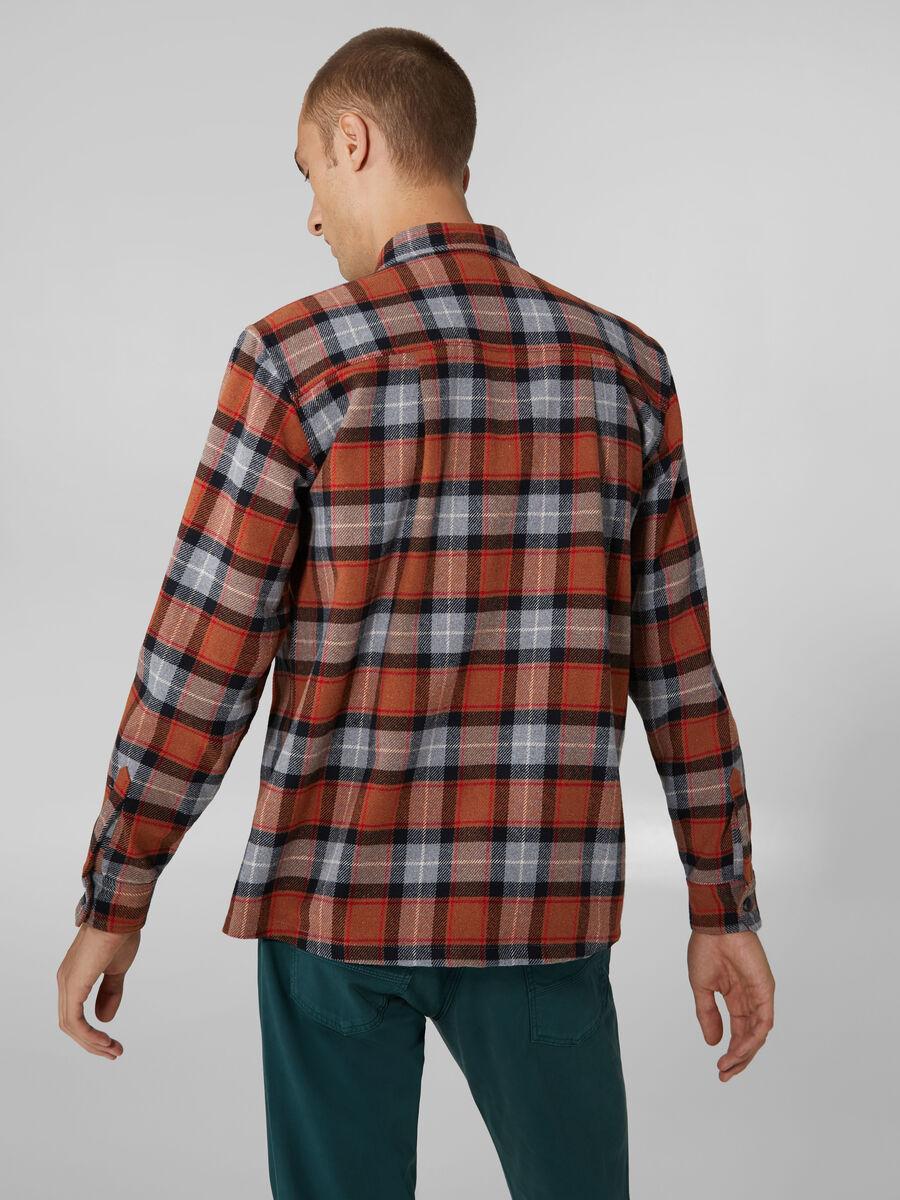 Camicia in flanella di cotone check