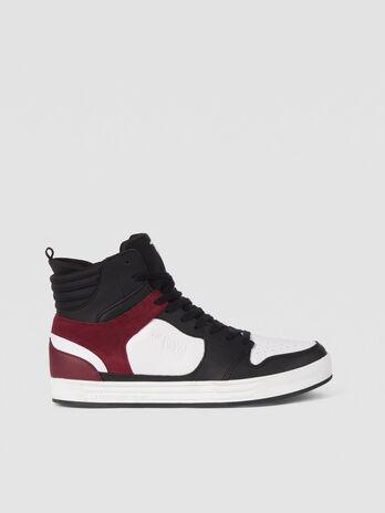 High top running sneakers