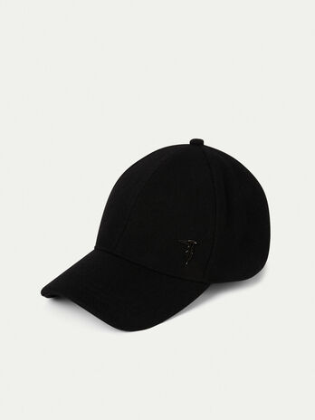 Wool blend baseball cap with logo
