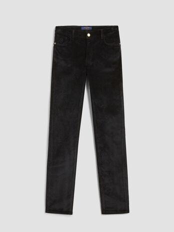Pantalone 105 skinny fit in velluto stretch