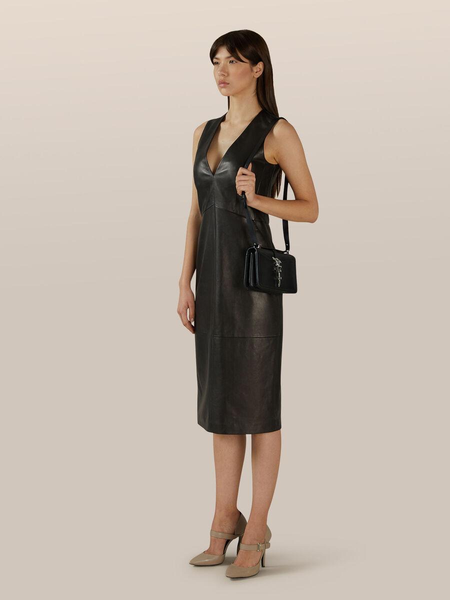 Slim fit leather dress