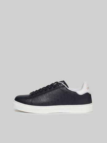 Sneaker Danus aus Leder mit Levriero-Muster