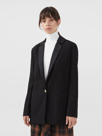 Tuxedo jacket in envers satin