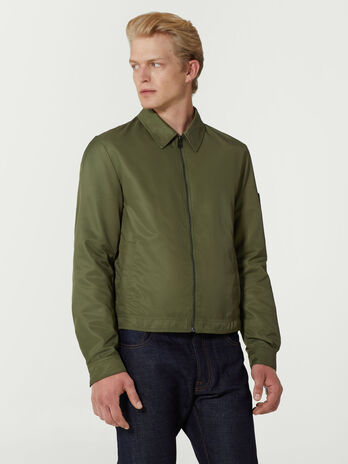 Regular fit technical twill jacket