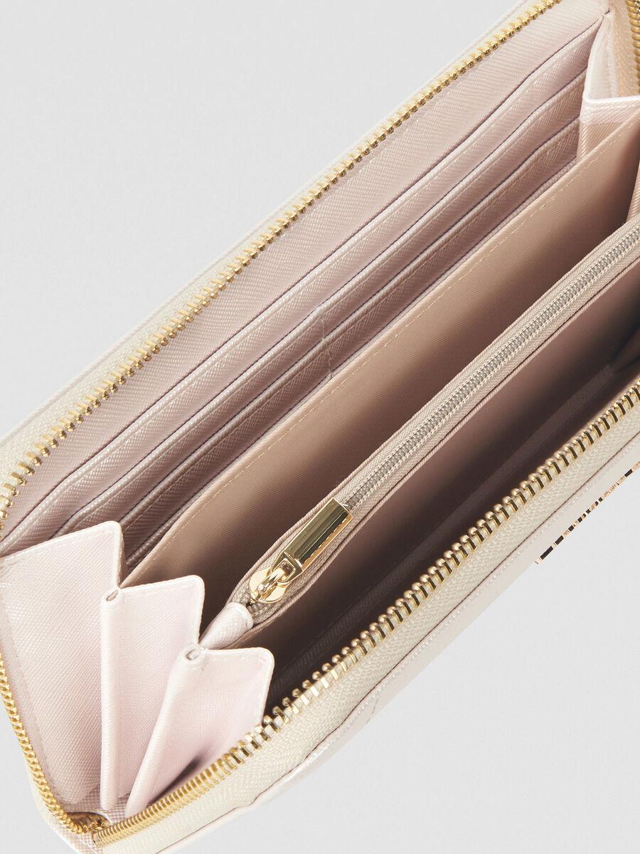 Geldboerse Bella Large aus Metallic-Kunstleder