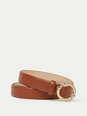Gange leather belt with greyhound details