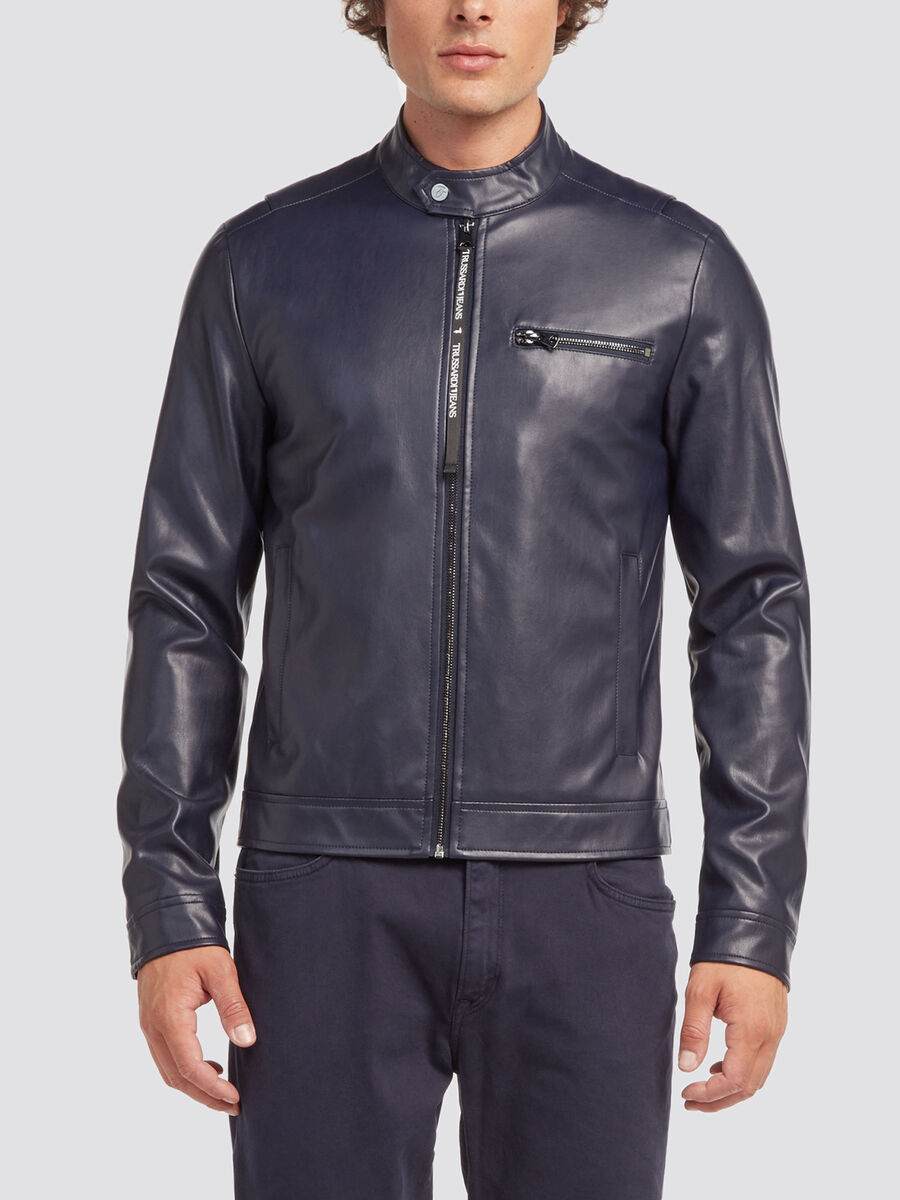 Regular fit biker jacket with zip