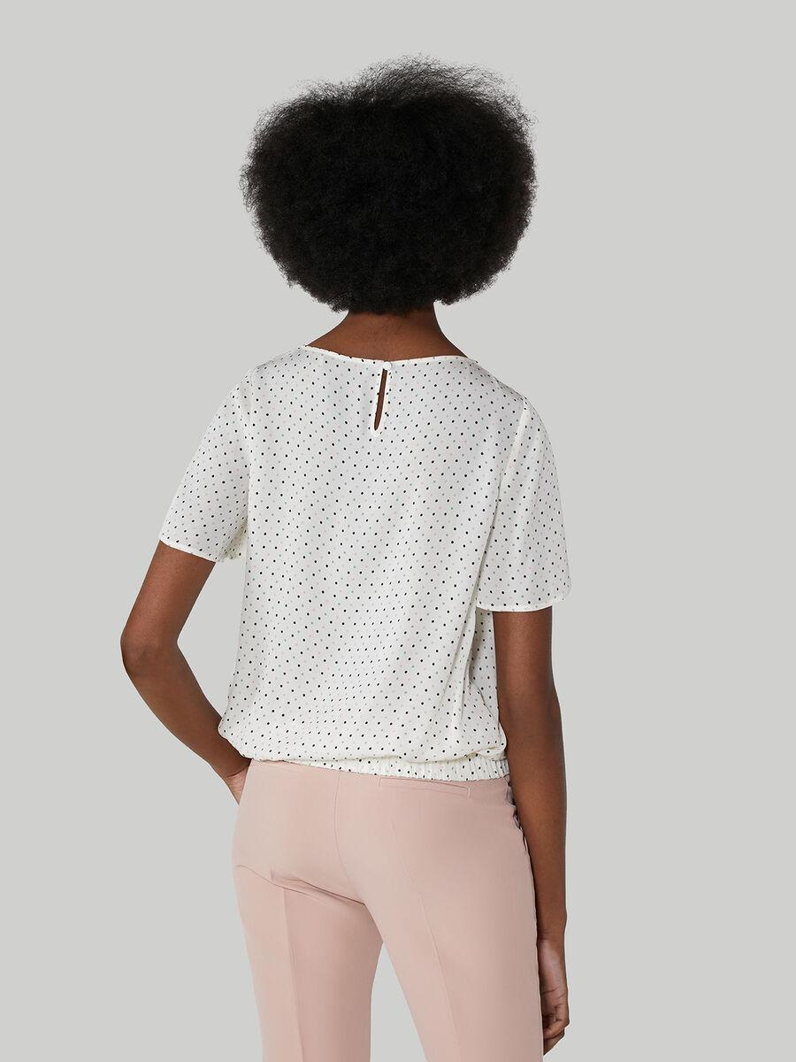 Viscose blouse with polka-dot print